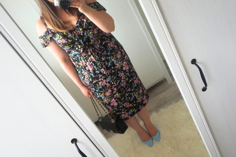 oasis midi floral dress